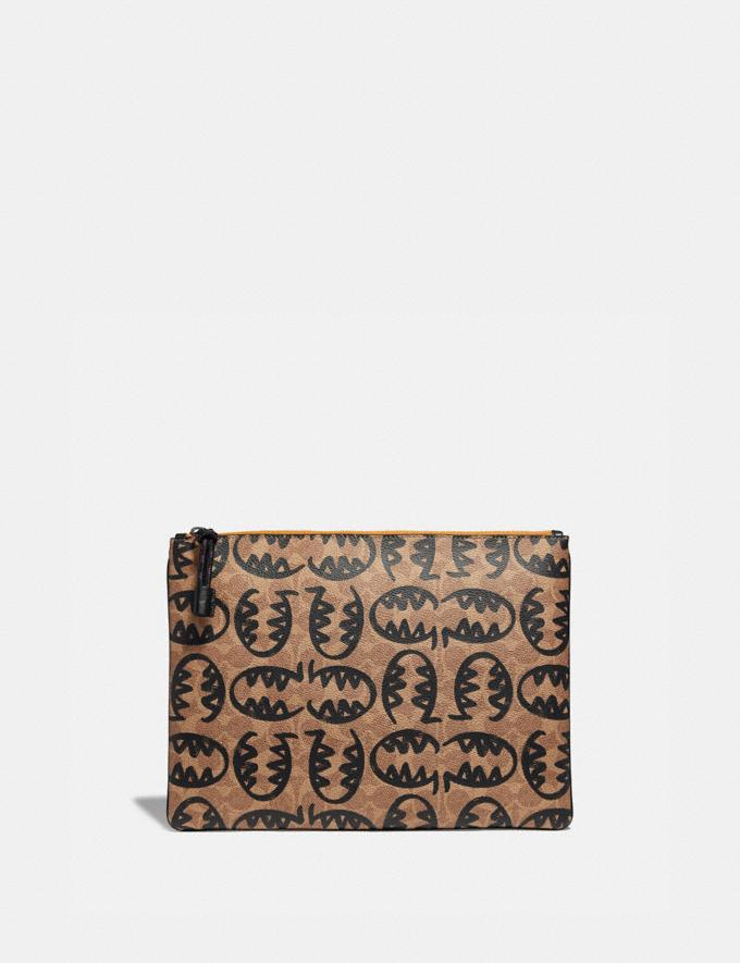 Coach Pouch 30 in Signature Canvas With Rexy by Guang Yu Khaki New Men's Trends Rexy Remix