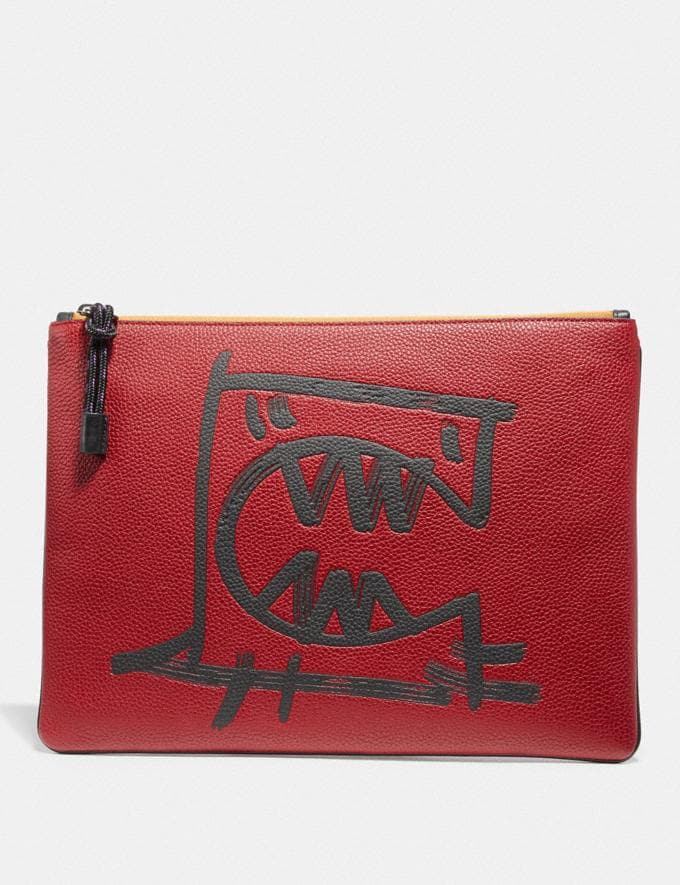 Coach Pouch 30 With Rexy by Guang Yu Carnelian 30% off Select Full-Price Styles