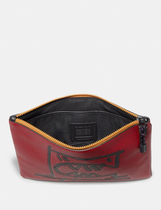 Coach Pouch 30 With Rexy by Guang Yu Carnelian New Men's New Arrivals Collection Alternate View 1
