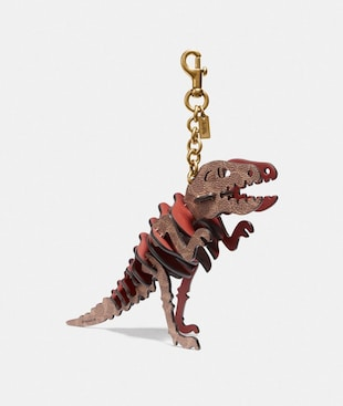 MEDIUM REXY BAG CHARM IN SIGNATURE CANVAS