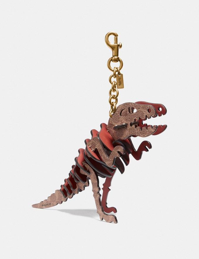 Coach Medium Rexy Bag Charm in Signature Canvas Rust/Brass SALE 30% off Select Full-Price Styles Women's