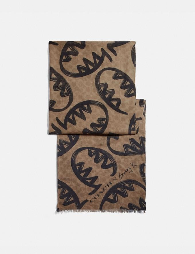 Coach Signature Scarf With Rexy by Guang Yu Tan Women Accessories Scarves