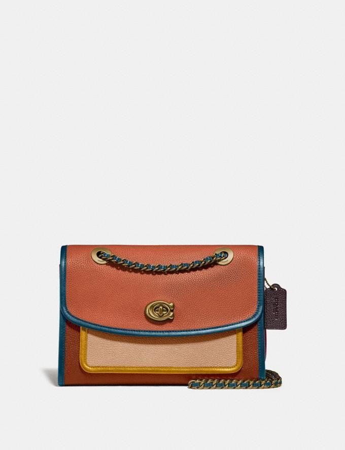 Coach Parker in Colorblock Vintage Mauve Multi/Brass Women Bags Shoulder Bags