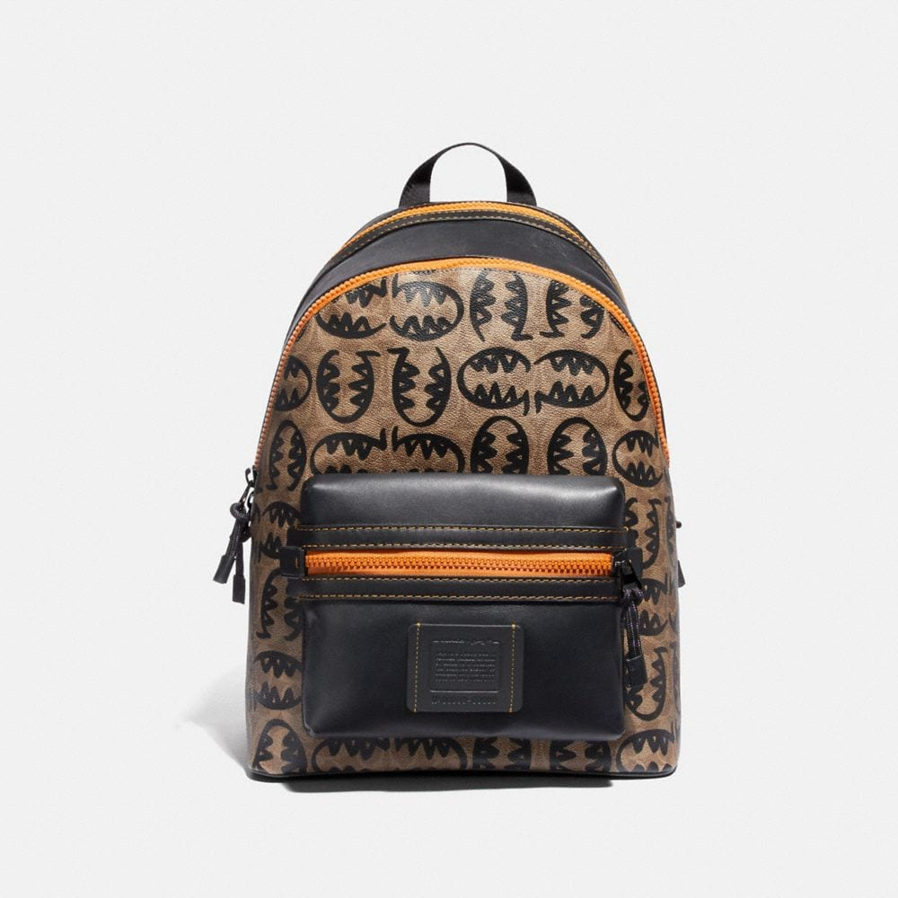 academy backpack in signature canvas with rexy by guang yu