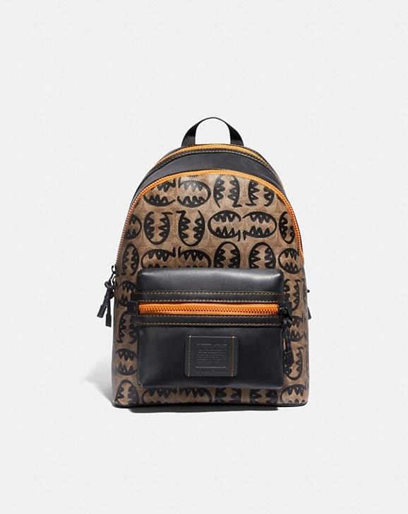 Coach ACADEMY BACKPACK IN SIGNATURE CANVAS WITH REXY BY GUANG YU