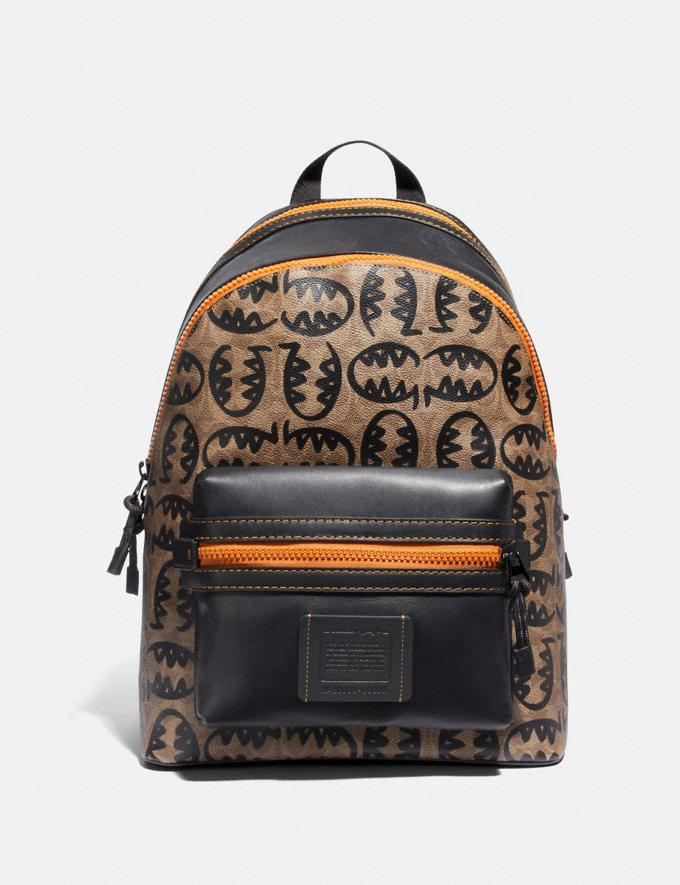 Coach Academy Backpack in Signature Canvas With Rexy by Guang Yu Khaki/Black Copper New Featured Rexy Collection