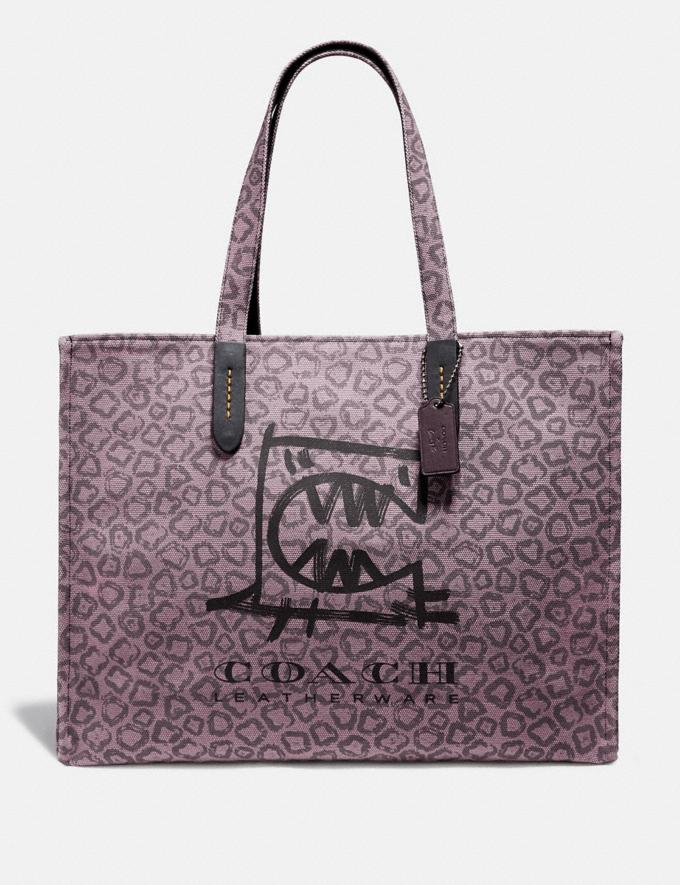 Coach Tote 42 With Rexy by Guang Yu Dusty Purple/Black Copper New Men's New Arrivals Collection