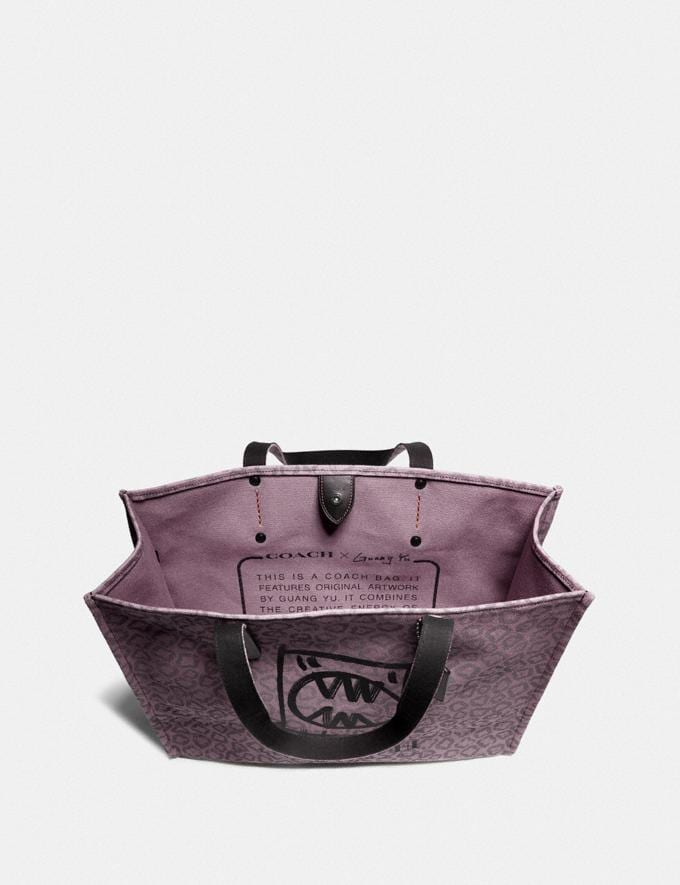 Coach Tote 42 With Rexy by Guang Yu Dusty Purple/Black Copper New Men's New Arrivals Collection Alternate View 2