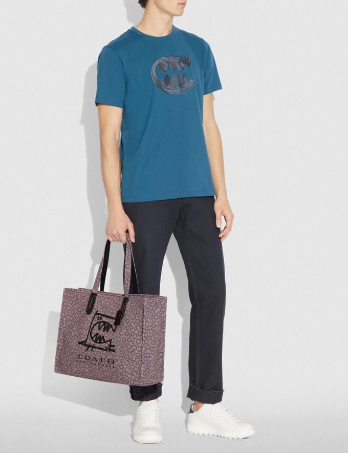 Coach Tote 42 With Rexy by Guang Yu Dusty Purple/Black Copper New Men's New Arrivals Collection Alternate View 3