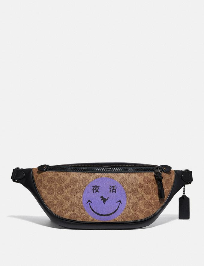 Coach Rivington Belt Bag in Signature Canvas With Rexy by Yeti Out Khaki/Black Copper New Men's New Arrivals Collection