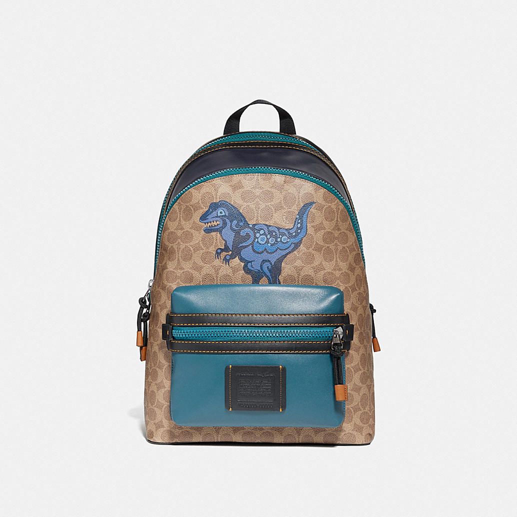Academy Backpack In Signature Canvas With Rexy By Zhu Jingyi by Coach