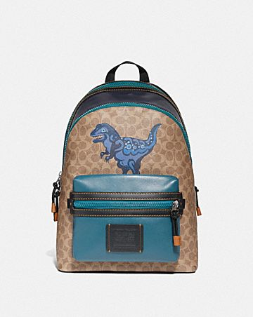 d27fa24c9e9a ACADEMY BACKPACK IN SIGNATURE CANVAS WITH REXY BY ZHU JINGYI ...
