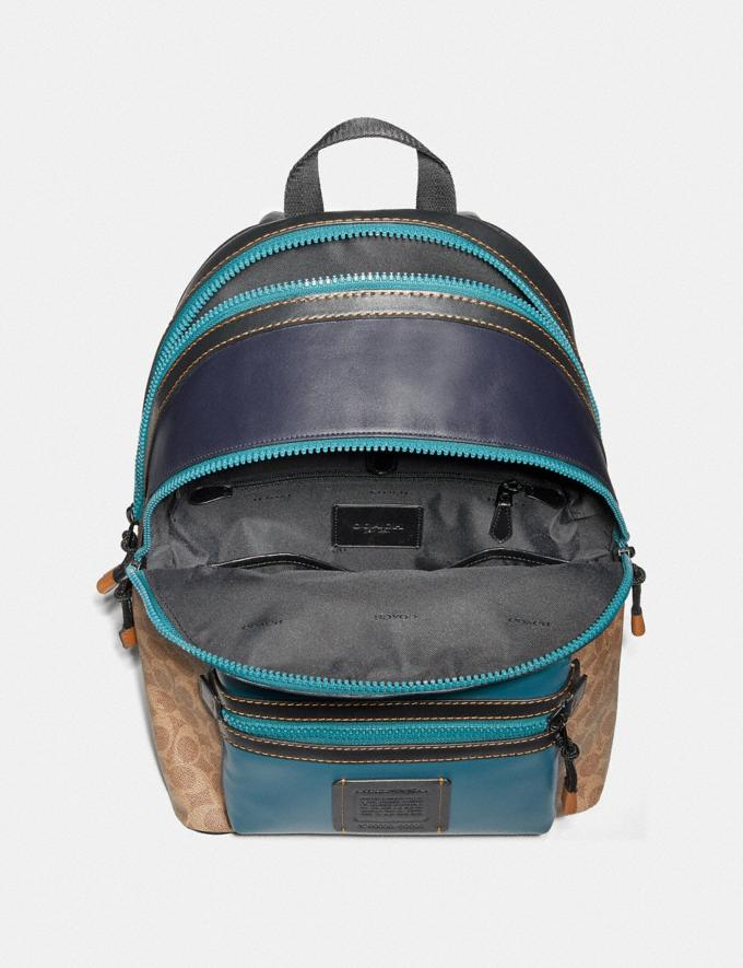 Coach Academy Backpack in Signature Canvas With Rexy by Zhu Jingyi Khaki/Black Copper SALE Men's Sale Alternate View 2