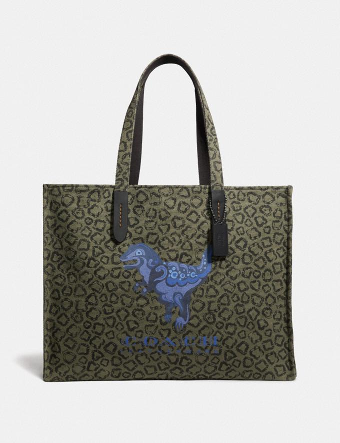 Coach Tote 42 With Rexy by Zhu Jingyi Army Green/Black Copper New Men's New Arrivals View All