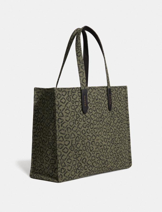 Coach Tote 42 With Rexy by Zhu Jingyi Army Green/Black Copper New Men's New Arrivals View All Alternate View 1