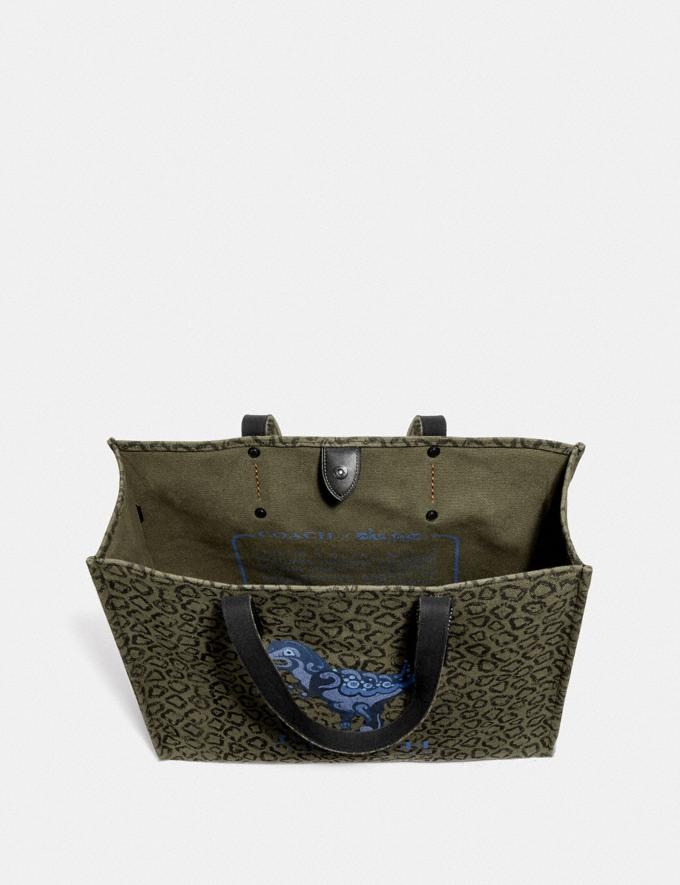 Coach Tote 42 With Rexy by Zhu Jingyi Army Green/Black Copper New Men's New Arrivals View All Alternate View 2