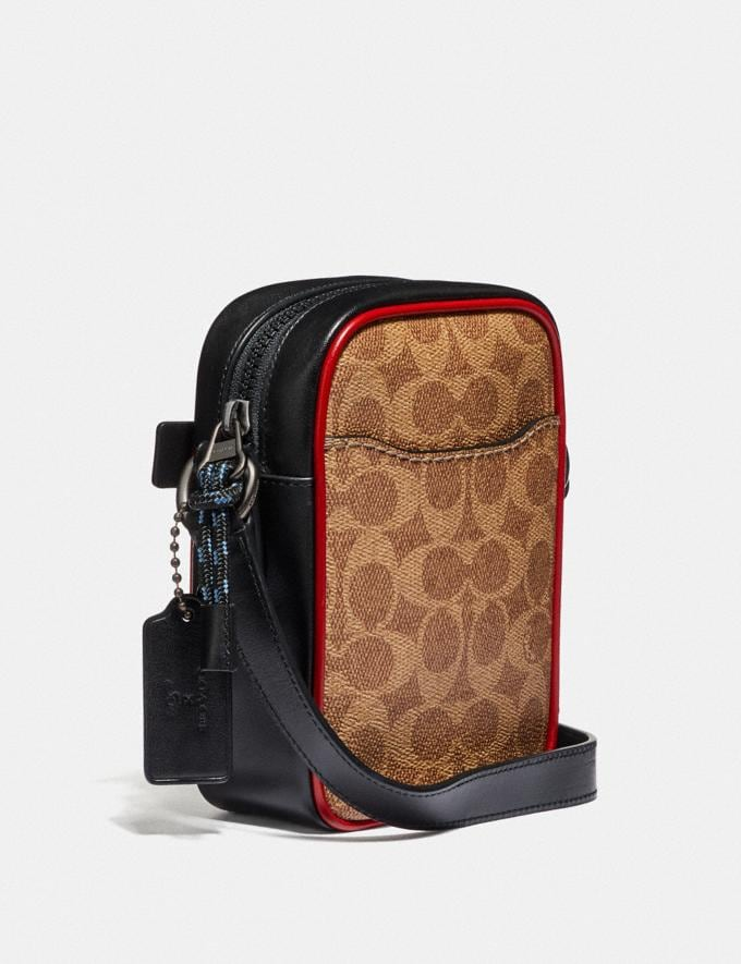 Coach Dylan 10 in Signature Canvas With Rexy by Sui Jianguo Khaki/Black Copper Men Bags Messenger & Crossbody Alternate View 1