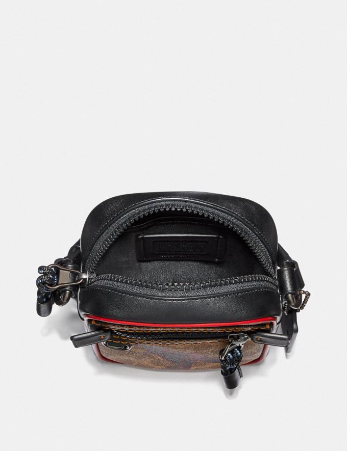 Coach Dylan 10 in Signature Canvas With Rexy by Sui Jianguo Khaki/Black Copper Men Bags Messenger & Crossbody Alternate View 2
