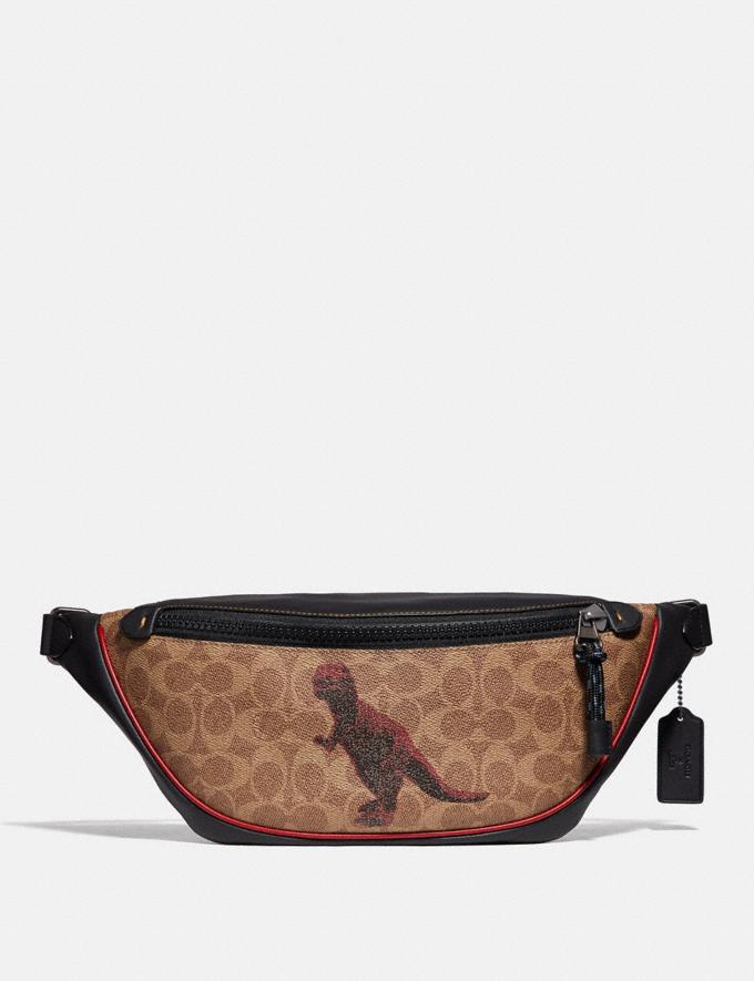 Coach Rivington Belt Bag in Signature Canvas With Rexy by Sui Jianguo Khaki/Black Copper New Men's New Arrivals