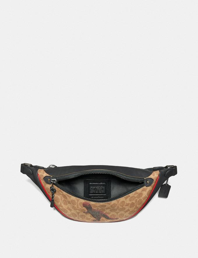 Coach Rivington Belt Bag in Signature Canvas With Rexy by Sui Jianguo Khaki/Black Copper  Alternate View 2