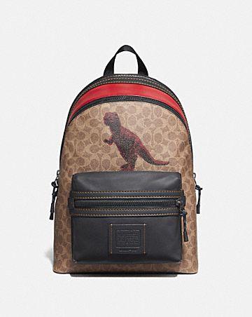 sac à dos academy en toile exclusive avec motif rexy par sui jianguo