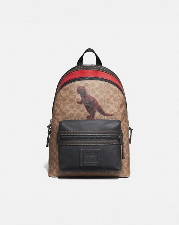 Coach ACADEMY BACKPACK IN SIGNATURE CANVAS WITH REXY BY SUI JIANGUO
