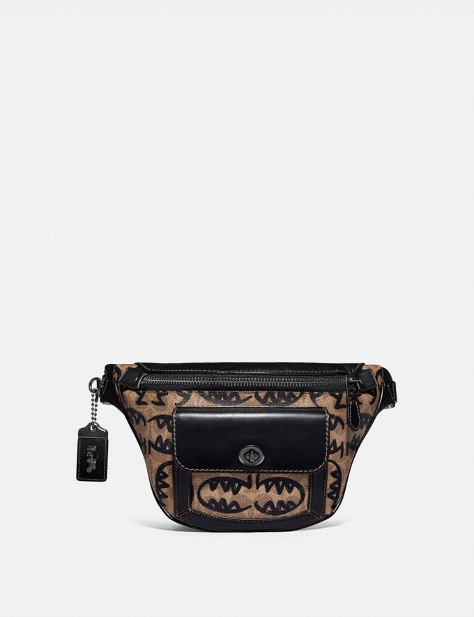 Coach Riley Belt Bag in Signature Canvas With Rexy by Guang Yu Khaki/Black Copper Finish New Featured Rexy Collection