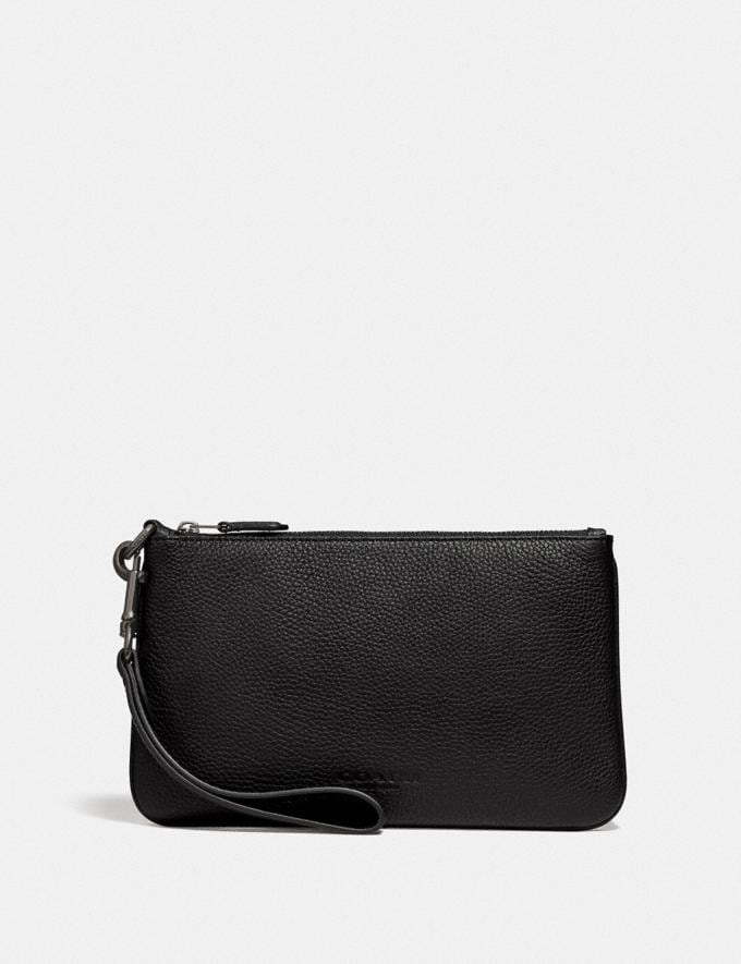 Coach Phone Pouch in Colorblock Black/Dark Honey Black Friday Men's Cyber Monday Sale Accessories