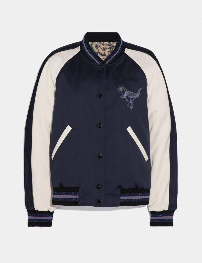 Coach Rexy by Zhu Jingyi Reversible Varsity Jacket Navy/Khaki SALE Women's Sale Ready-to-Wear