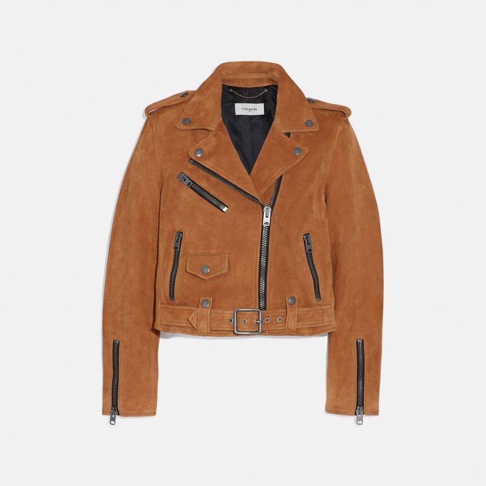 suede mini biker jacket