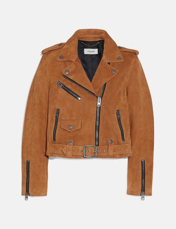 Coach Suede Mini Biker Jacket Canyon DEFAULT_CATEGORY
