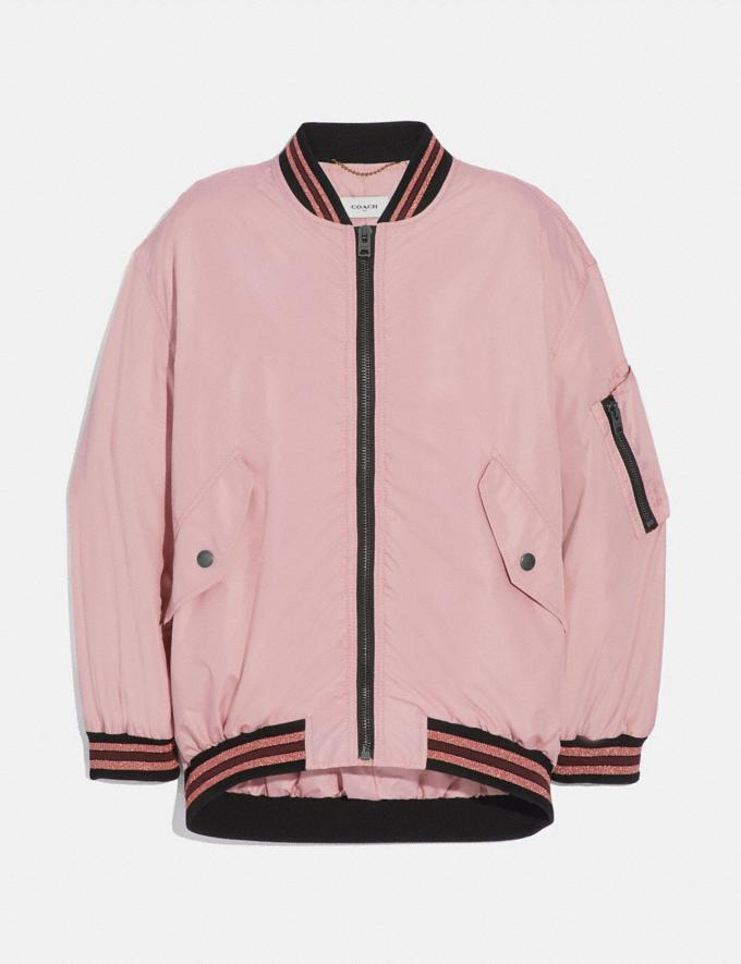 Coach Nylon Ma-1 Jacket Pink Women Ready-to-Wear Jackets & Outerwear