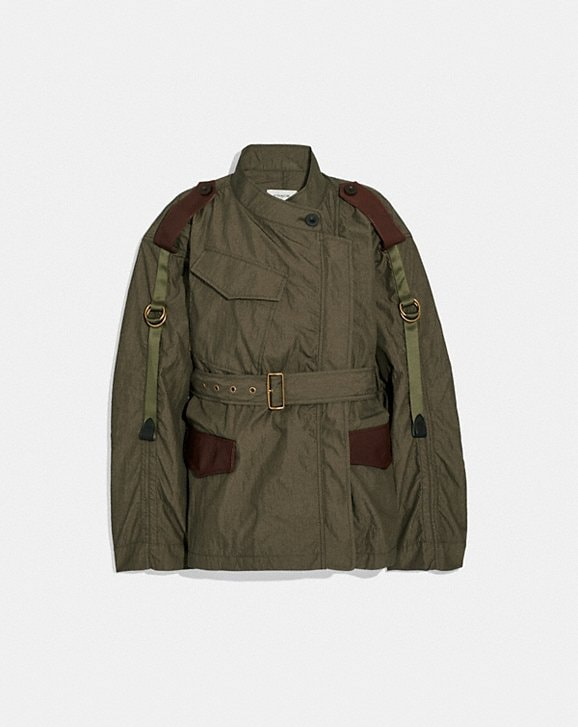 Coach BELTED MILITARY JACKET