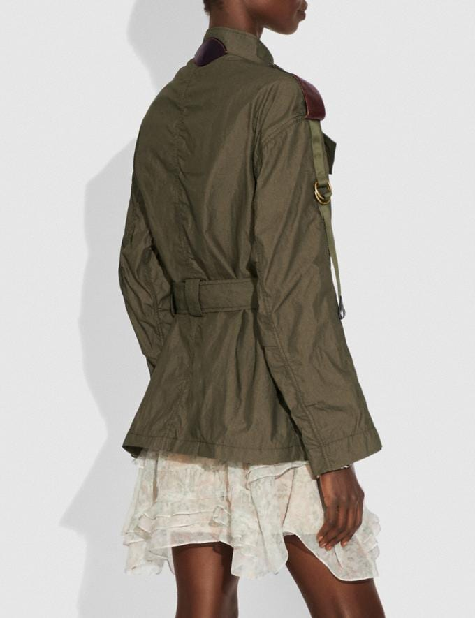 Coach Belted Military Jacket Moss SALE Women's Sale Ready-to-Wear Alternate View 2