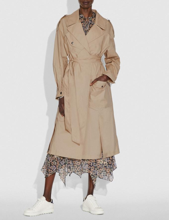 Coach Oversized Trench Classic Khaki Women Ready-to-Wear Jackets & Outerwear Alternate View 1