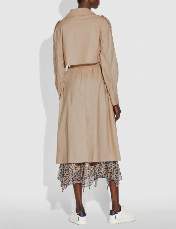 Coach Oversized Trench Classic Khaki Women Ready-to-Wear Jackets & Outerwear Alternate View 2