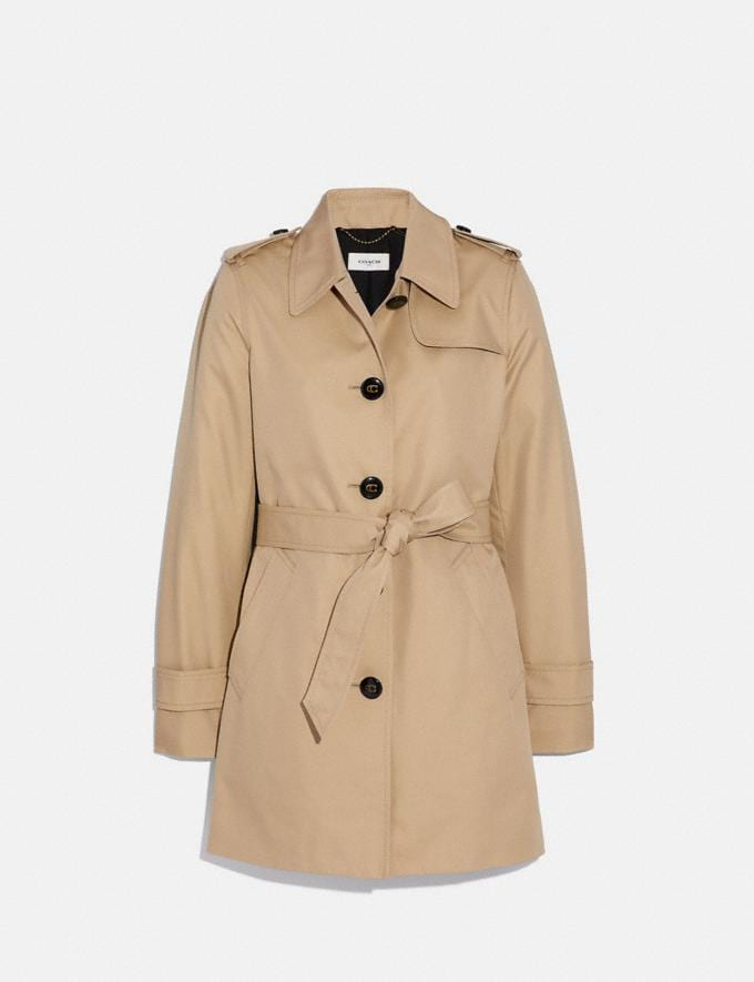 Coach Tie Waist Trench Khaki SALE Women's Sale Ready-to-Wear