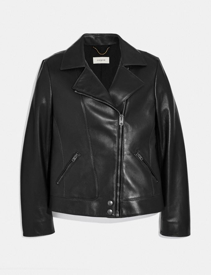 Coach Leather Moto Jacket Black Women Ready-to-Wear Coats & Jackets