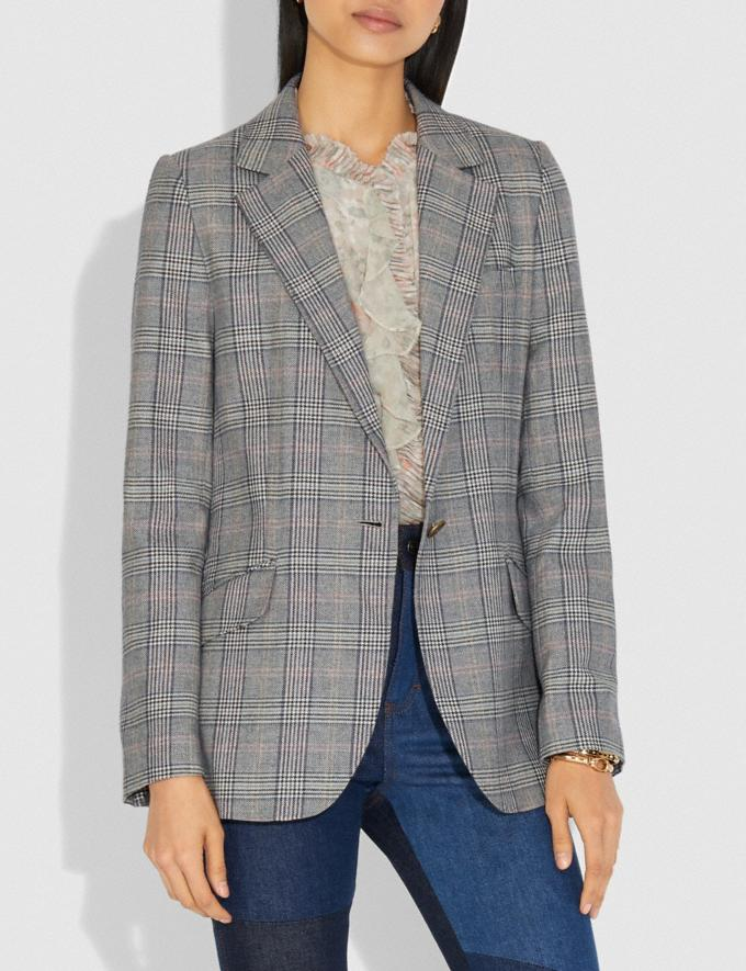 Coach Oversized Blazer Multi Women Ready-to-Wear Coats & Jackets Alternate View 1