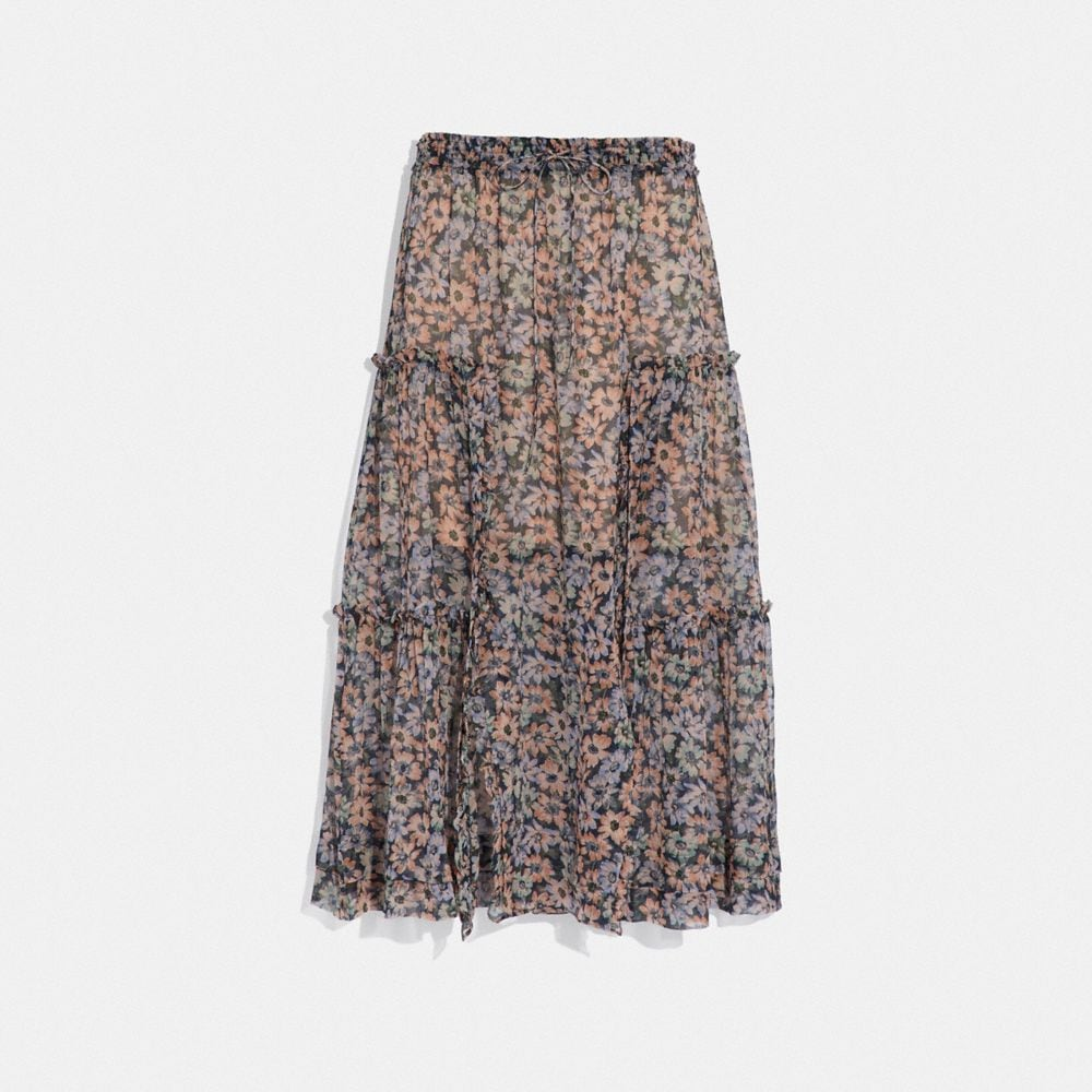 LONG SKIRT WITH FRONT SLITS