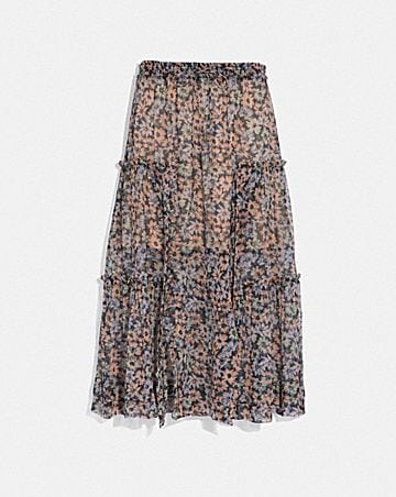 19a26f84218625 LONG SKIRT WITH FRONT SLITS ...