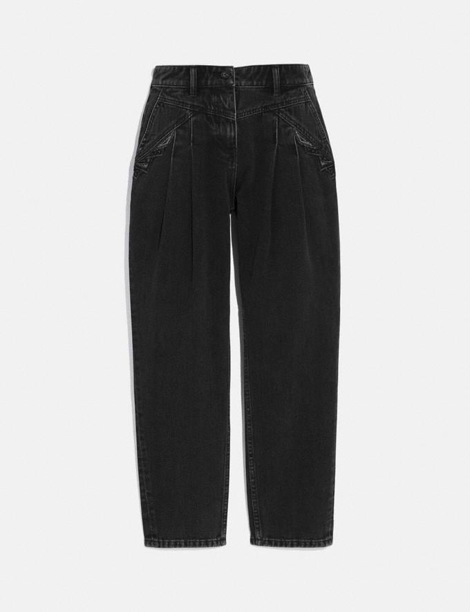 Coach Denim and Lace Jeans Black Women Ready-to-Wear Bottoms