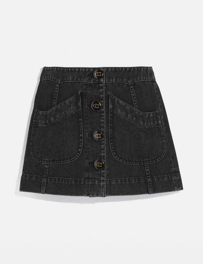 Coach Denim Skirt Black Women Ready-to-Wear Bottoms