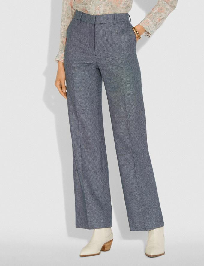 Coach Tailored Pants Black/White Women Ready-to-Wear Bottoms Alternate View 1