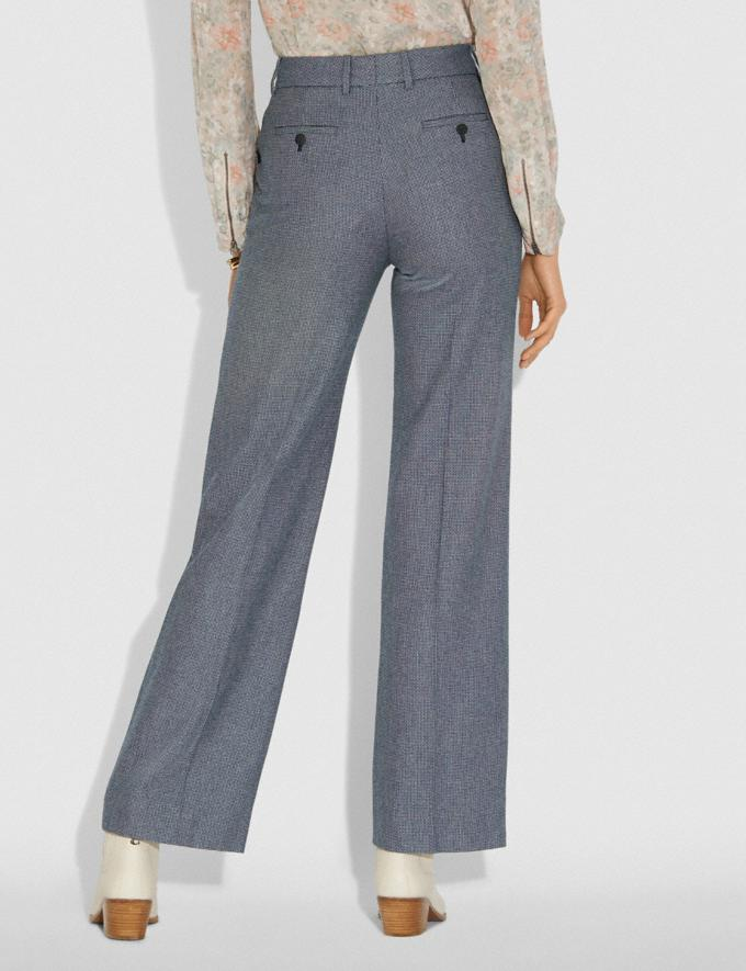 Coach Tailored Pants Black/White Women Ready-to-Wear Bottoms Alternate View 2