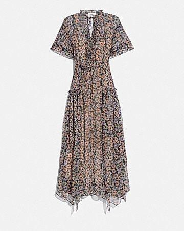 long bib dress