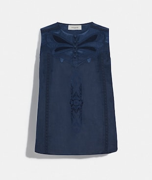 LACEY APPLIQUE SLEEVELESS TOP