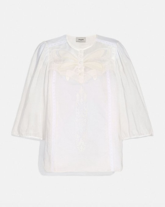 LACEY BUTTERFLY APPLIQUE TOP