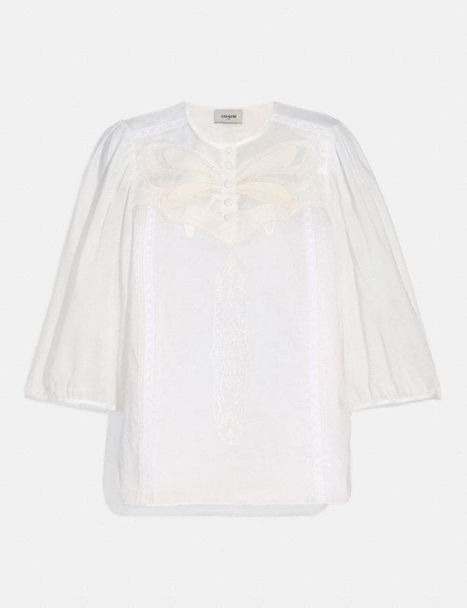 Coach Lacey Butterfly Applique Top White