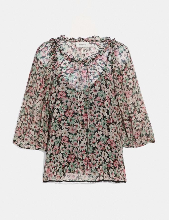 Coach Lacey Top Black/Pink Women Ready-to-Wear Tops